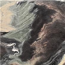 Majestic Ocean Green Black Brown Beige Marble