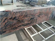 Multicolor Smoga Red Granite Slabs Floor Tiles