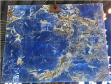 Polished Pakistan Blue Onyx with Brown Veins Slabs