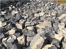 Quarry Sale Black Rubble Stone for Landscaping