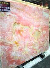 Sapphire Pink Onyx Stone Slab Price
