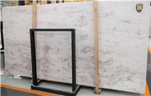 Turkey Usak Pink White Marble Slabs Tiles