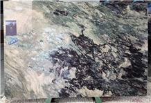 Violet Blaze Purple Green Beige Marble Slabs Tiles