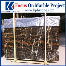 Afghan Black Portoro Marble Slabs