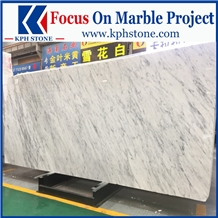 Bianco Carrara Marble Slabs for Nomad Las Vegas