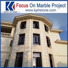 Bianco Classico Beige Marble Facade for Las Vegas