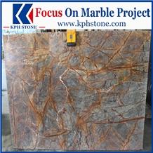 Bidasar Rainforest Brown Brown Marble Slabs