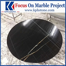 Black Gold Marble Cafe Table Tops