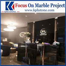 Black Gold Marble Reception Counters for New York