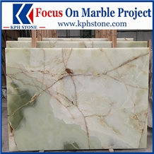 Bolagh Light Green Onyx Tiles and Slabs for Hotels