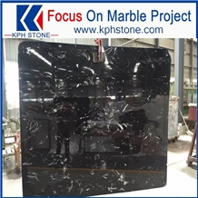 China Ice Black Marble for Top Hotel Decor