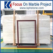 Eurasian White Wood Marble Slabs
