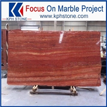 Fashion Red Travertine Slabs, Iran Red Travertine