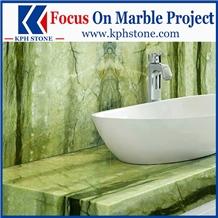 Green Agate Marble Bathroom Vanity Tops Decor