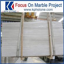 High Grade Greek White Wood Striato Argento Marble