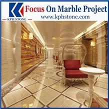 Italian Grey Wood Vein Marble Floor Design
