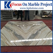 Jazz Pirgon White Marble Lobby Walling Slabs&Tiles