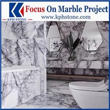 Lilac New York Marble Bathroom Vanity Tops