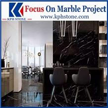 Marquina Black Marble Bar Countertops&Tops