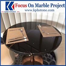 Nero Tunisi Marble Restaurant Table Tops