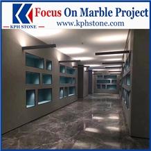 New Hermes Ash Grey Marble Corridor Floor Tiles