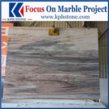 Palissandro Bluette Marble Slab for Hotel Project