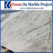 Pirgon Volakas Semi Pighes Semi White Marble Slabs