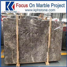 Polished Storm Cloud Grey Marble for Hotel Project