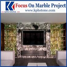 Primavera Green Marble Living Room Walls&Floors