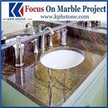 Rainforest Green Marble Bathroom Countertops