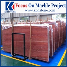 Persian Red Travertine Slabs