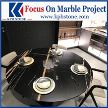 Sahara Noir Marble Black Kitchen Table Tops