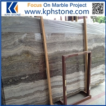 Silver Grey Travertine Slabs