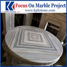 Striato Grigio White Marble Kitchen Tables&Tops