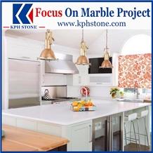 Thassos Semi White Marble Kitchen Countertops&Tops