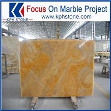 Wall Decoration Orange Onyx Transparent Slab