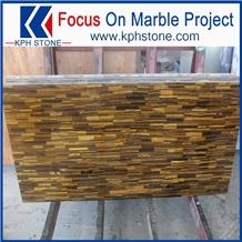 Yellow Tiger Eyes Semiprecious Stone for Interior Decor