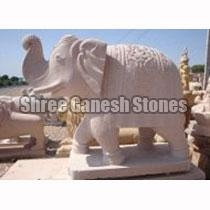 Sandstone Carved Animal Statues