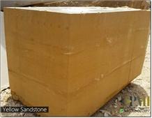 Yellow Sandstone Blocks Natural Stone Block