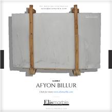 Afyon White Billur Slabs