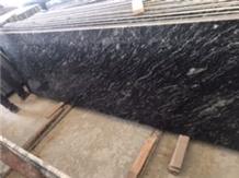 River Black Granite Slabs, India Black Granite