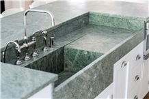 Harbor Mist Granite Kitchen Countertop,Sink
