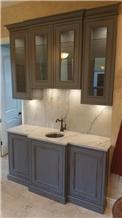 Quartzite Bar Top, Drop in Copper Sink