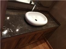 Negro Caracol Marble Vanity Top