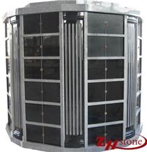 48 Crypts G603 Shanxi Black Granite Columbarium