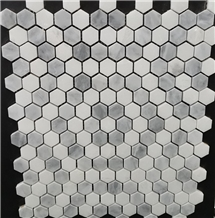 Bianco Carrara Marble Hexagon Mosaic