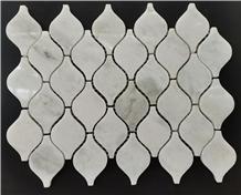 Han White Marble Calabash Shape Mosaic