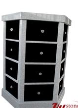 Hexagen 24 Crypts Grey+Black Granite Niche