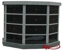Hexagen 24 Cypts G603, Black Granite Columbarium