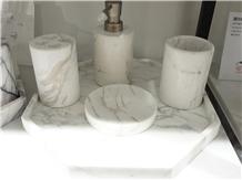 Jazz White Marble Bath Accessories